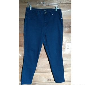 1822 Denim Dark Blue Wash Skinny Jeans Size 12